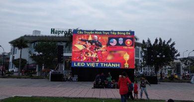"""Màn Hình LED cho thuê Sự kiện """" Cổ Vũ Bóng Đá Tại Quảng Trường Bắc Giang """""""